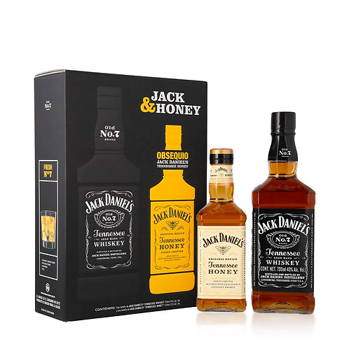 Whisky Jack Daniel's No.7 700ml + Jack Daniels Honey 350ml