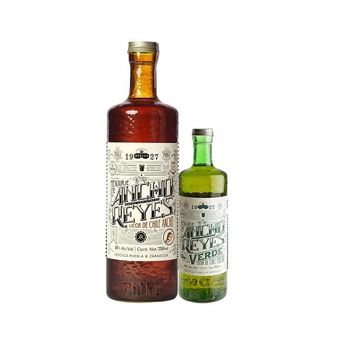 Licor Chile Ancho los Reyes 750 ml + Licor Chile Ancho Verde 375 ml
