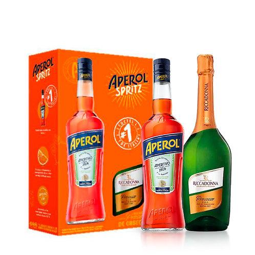 Aperitivo Aperol 750 ml + Riccadonna Prosecco Extra Dry 750 ml