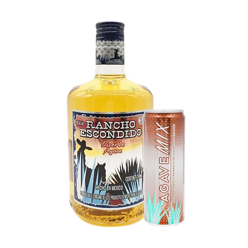 Rancho Escondido Oro 750 ml +Bebida Agave Mix Tamarindo Picante