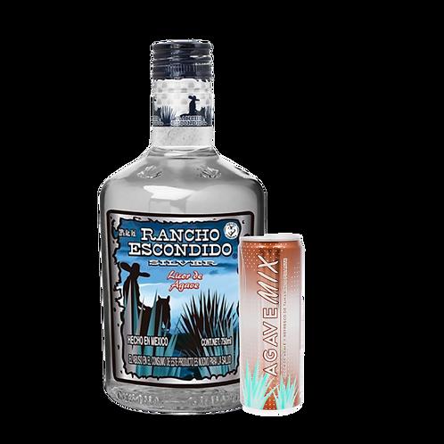 Rancho Escondido Silver 750 ml + Bebida Agave Mix Tamarindo Picante 355 ml
