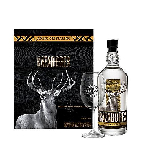 Tequila Cazadores Cristalino 750ml + Copa Regalo