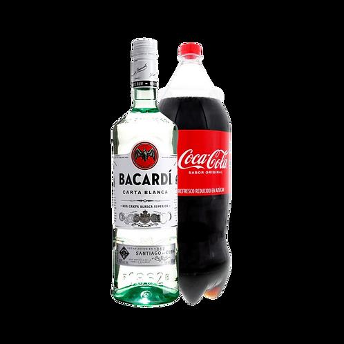 Ron Bacardí Carta Blanca 980 ml + Coca Cola 2.5 Lt
