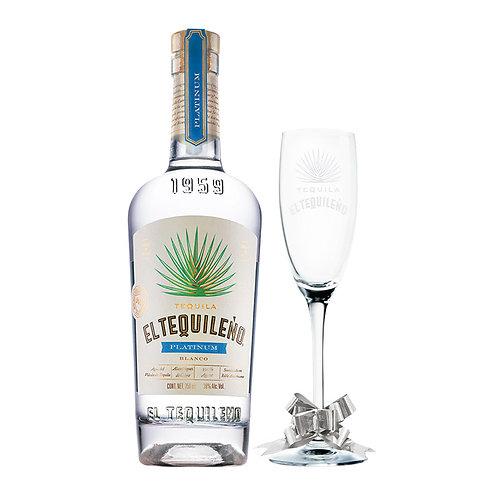 El Tequileño Platinum Blanco 750ml +  Copa