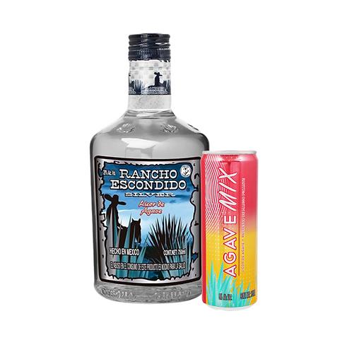 Rancho Escondido Silver 750 ml + Agave Mix mango picante