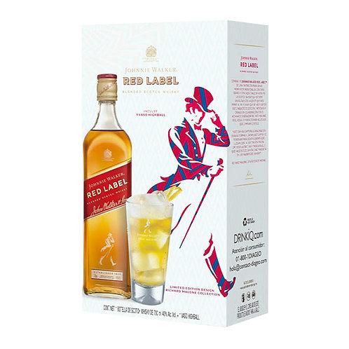 Whisky Johnnie Walker Etiqueta Roja 700ml + Vaso