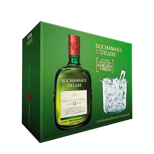 Whisky Buchanan's 12 Años 750ml +Hielera y Pinzas
