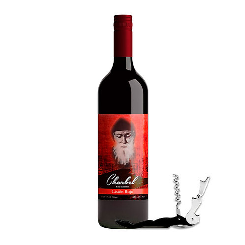 Vino Charbel Listón Rojo 750ml + Descorchador