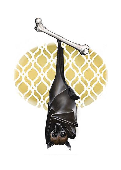 Bat and Femur Vinyl Sticker