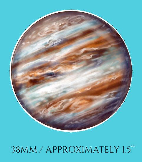 Jupiter 38mm (1.5'') Handmade Glass Dome Magnet