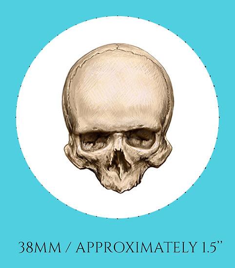 Skull 38mm (1.5'') Handmade Glass Dome Magnet