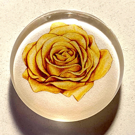 Rose 38mm (1.5'') Handmade Glass Dome Magnet