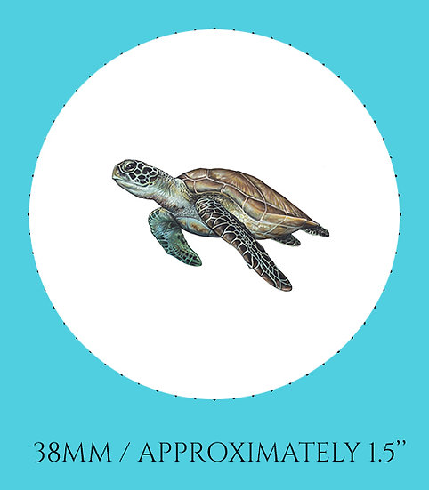 Sea Turtle 38mm (1.5'') Handmade Glass Dome Magnet
