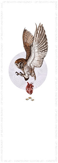 Owl and Heart with Hyoid Bookmark