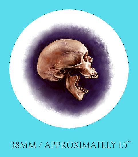 Skull Profile 38mm (1.5'') Handmade Glass Dome Magnet