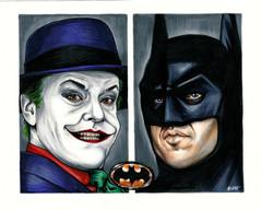 Batman and Joker 1989