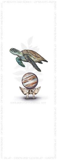 Sea Turtle with Sphenoid and Jupiter Bookmark