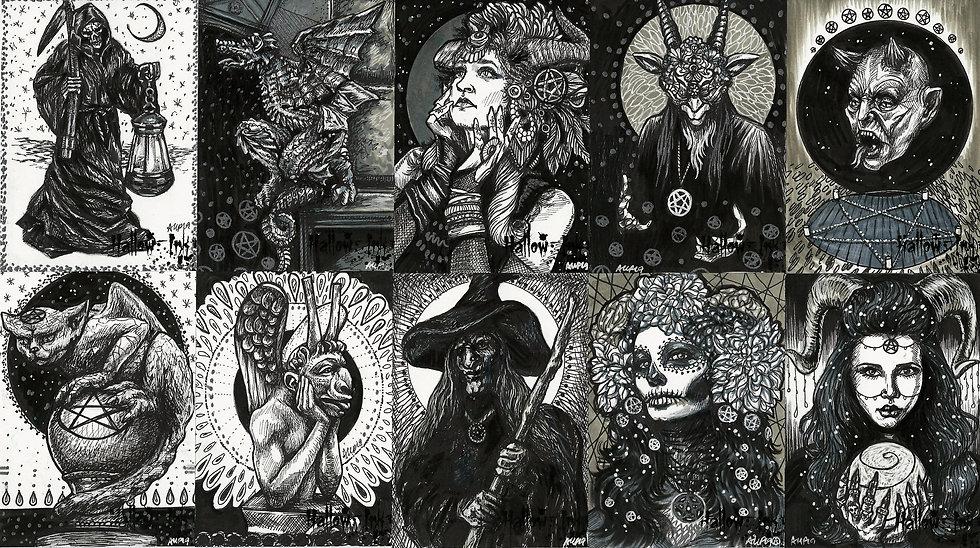 Hallowed Ink Art Print Set
