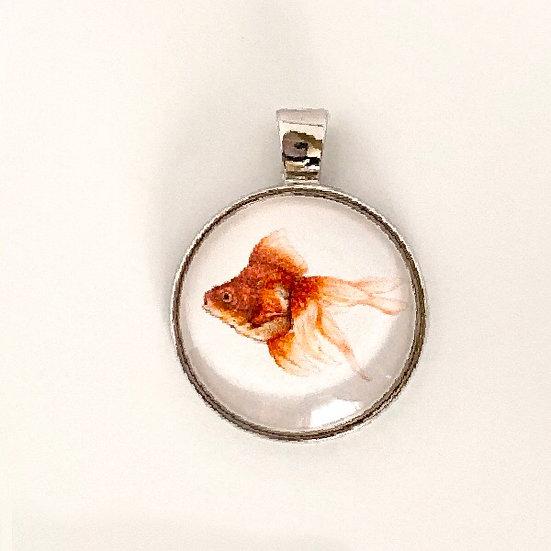 Goldfish Pendant Necklace