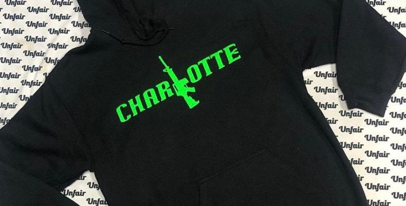 Black Green Font Hoodie
