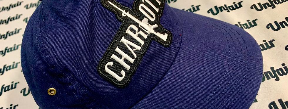 Navy Blue Charlotte Stick Dad Hat