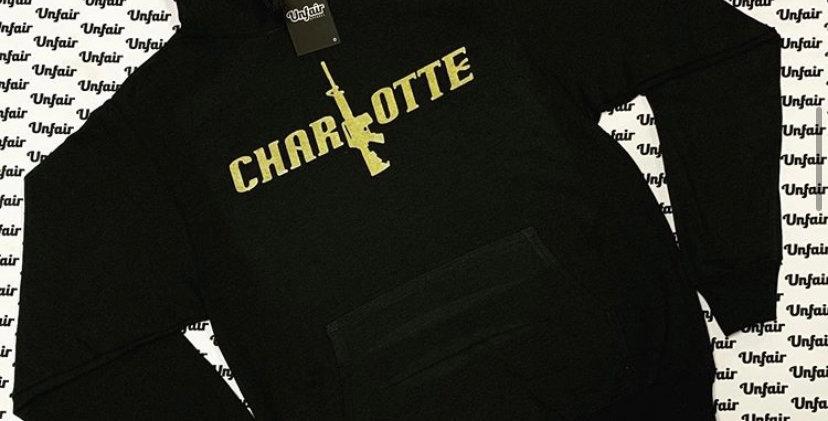 Black Golden Charlotte Font Hoodie