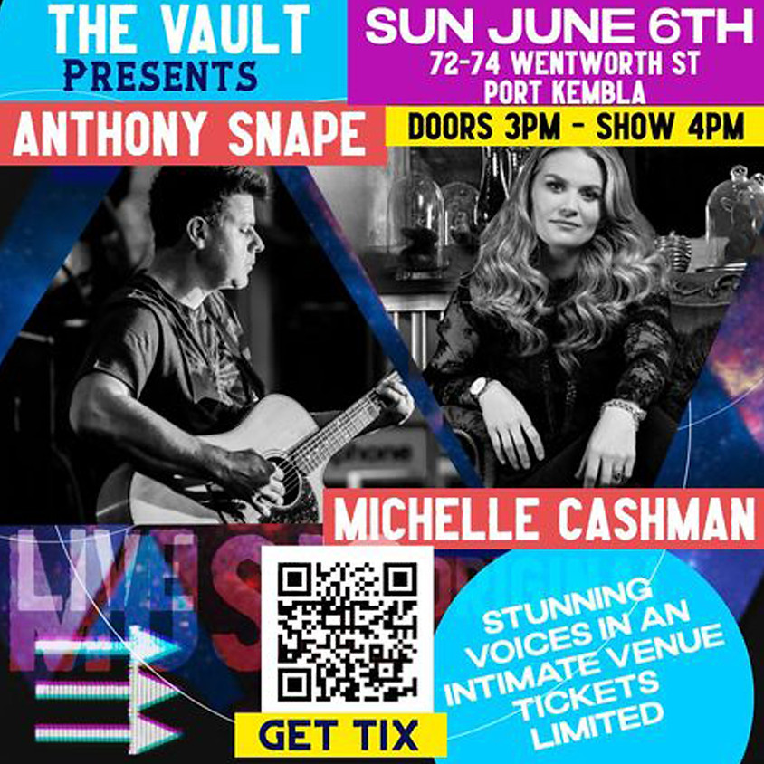 Anthony Snape and Michelle Cashman at The Vault
