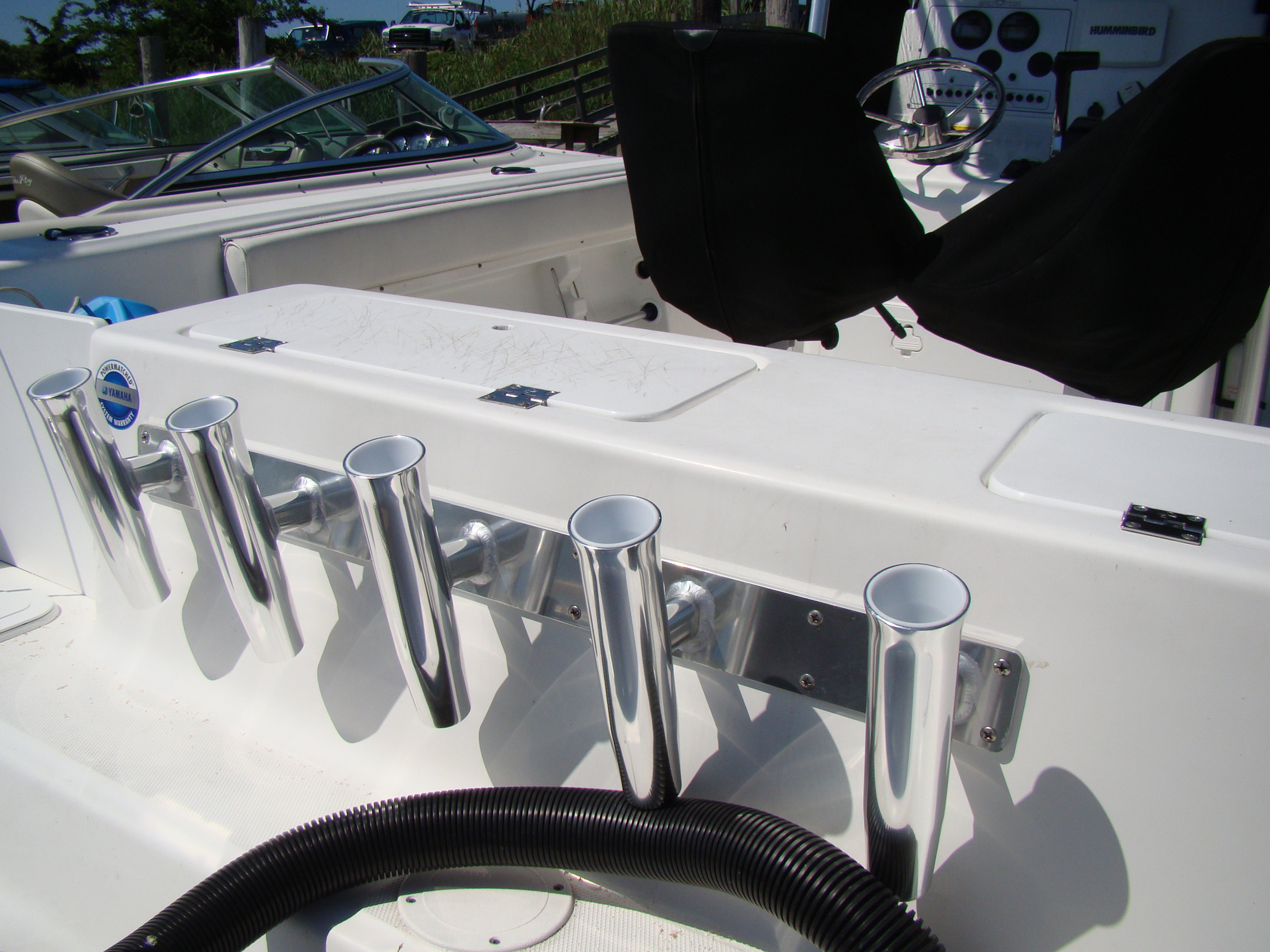 """Boat Wall Mounted Stainless 4Pole Rocket Launcher Rod Holder W31.5/""""*H10/"""" US FAST"""