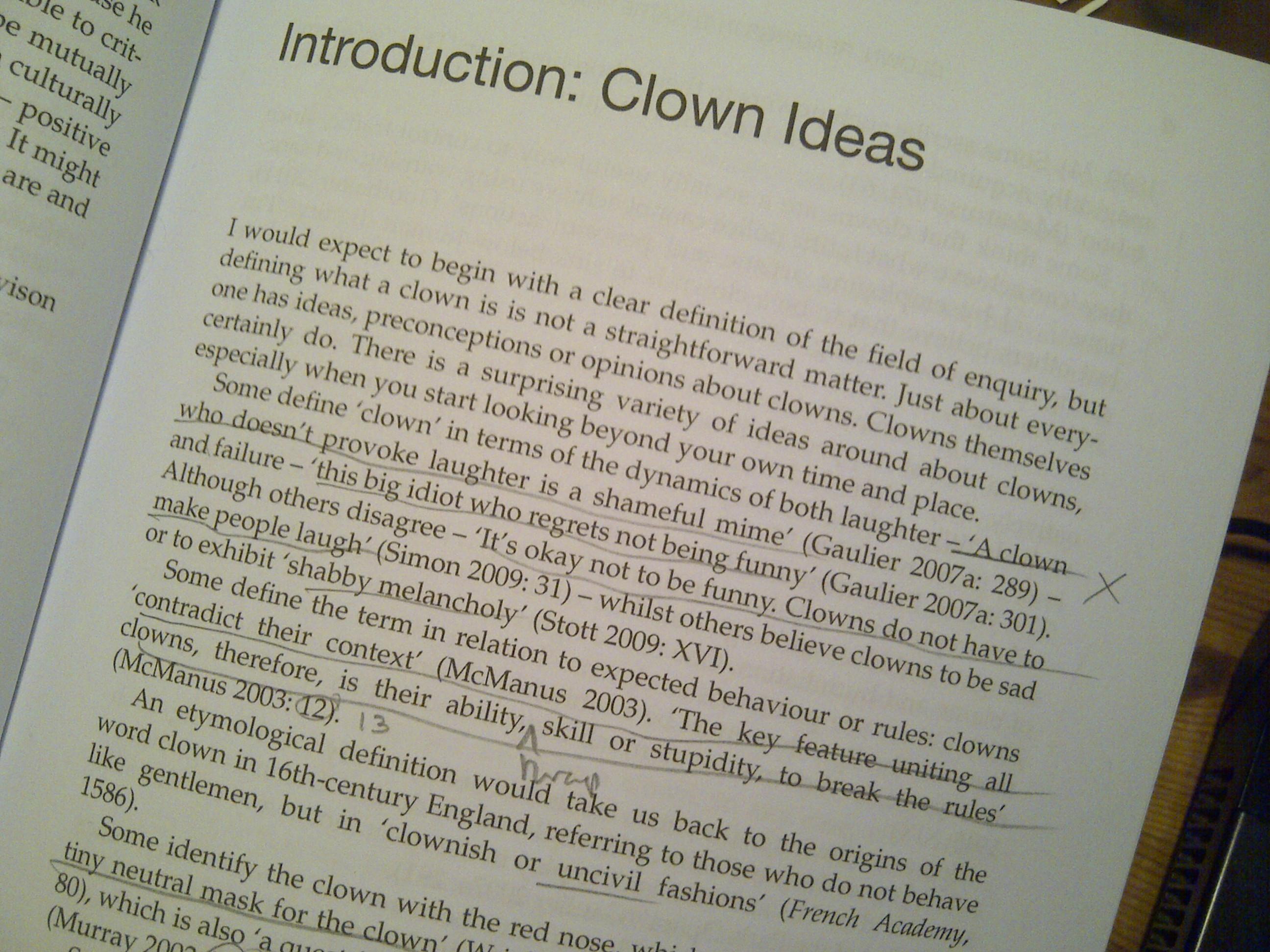 Clown Studies Course
