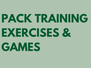 Pack Training Exercises and Games