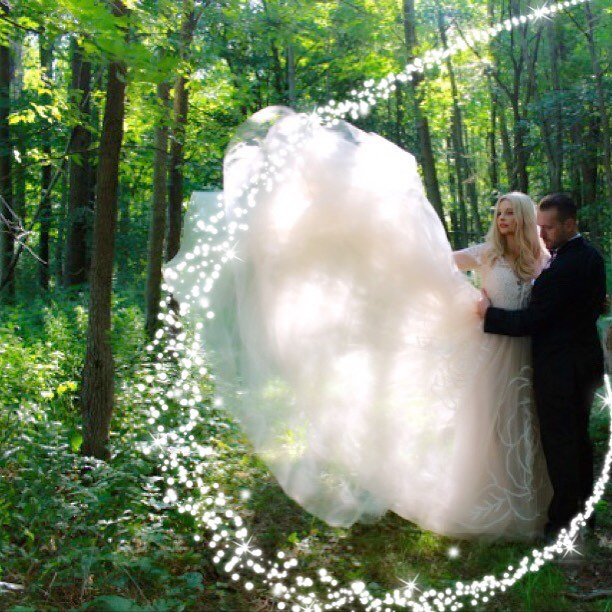 From an extraordinary #life to a #fairytale beginning #wedding #weddinginthewoods #gown #jimhjelmbyh