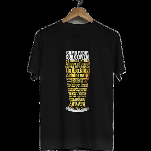 Camiseta Como pedir sua cerveja pelo mundo