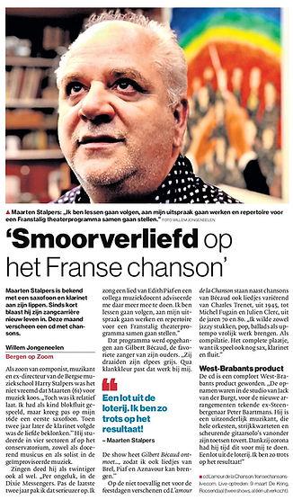 BN de Stem interview Maarten Stalpers Franse Chansons