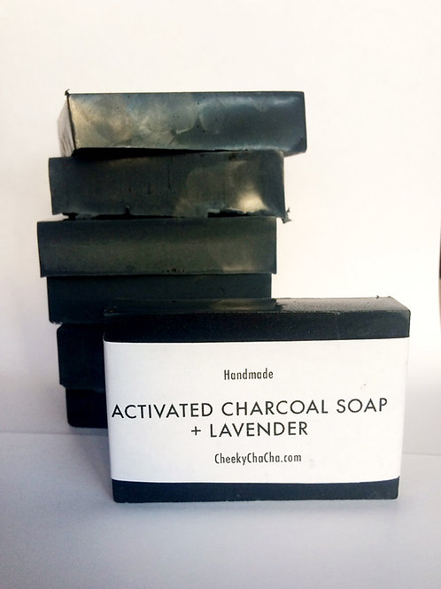 ACTIVATED CHARCOAL SOAP + LAVENDER