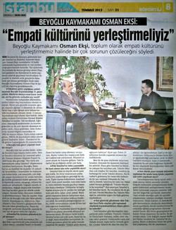 Beyoğlu Kaymakamı Osman Ekşi