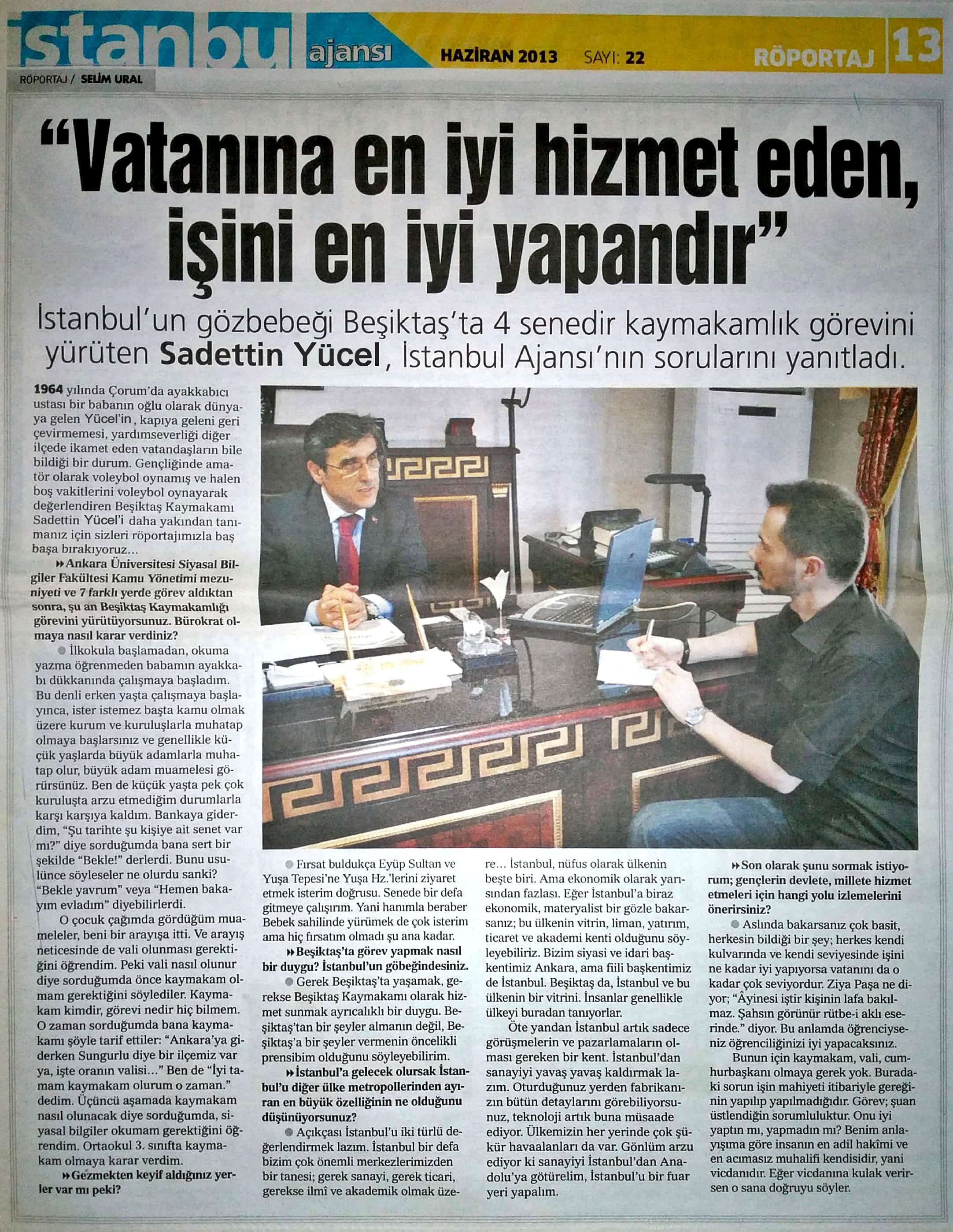 Beşiktaş Kaymakamı Saadettin Yücel