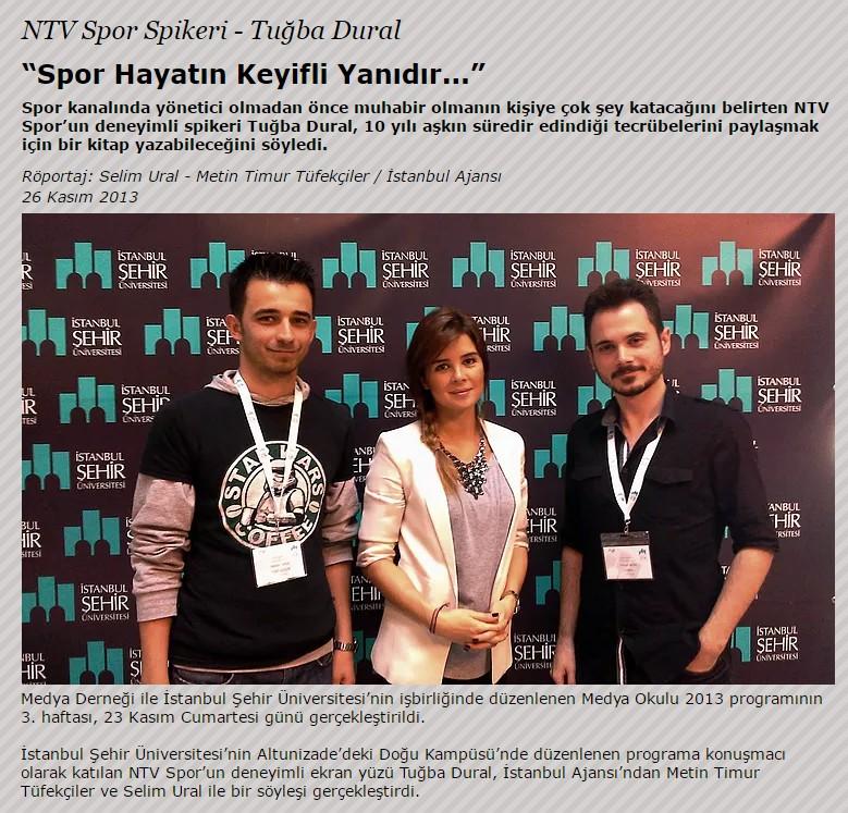 NTV Spor Spikeri Tuğba Dural