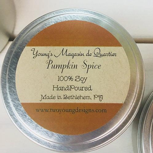 Pumpkin Spice 8 oz. Candle 100% Soy