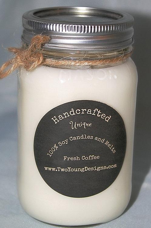 Fresh Coffee 12 oz Mason Jar Candle