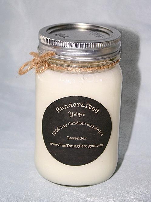 Lavender 12 oz. Mason Jar