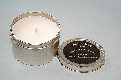 Lavender 8 oz Tin Container Candle