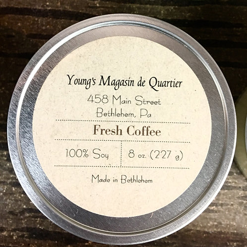 Fresh Coffee 8oz. Tin Container Candle