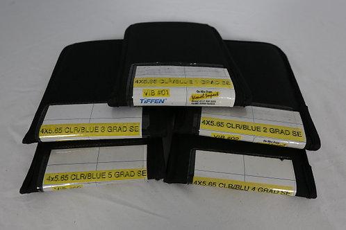Tiffen 4x5.65 CLR/Blue Filter, Set of 5 (1 to 5 GRAD SE)