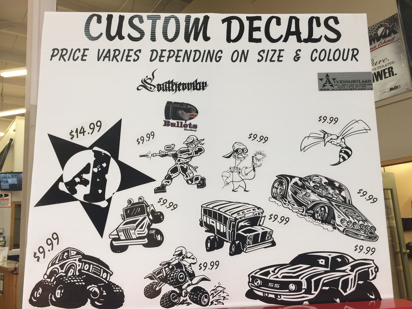 custom stickers and decals