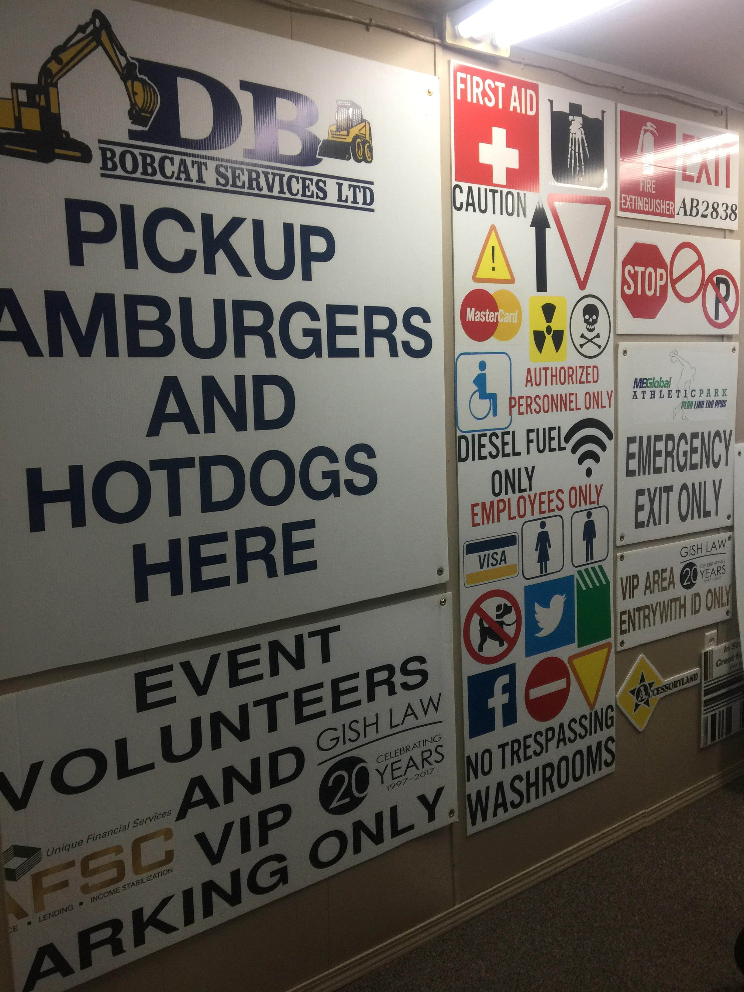 event signs and decals