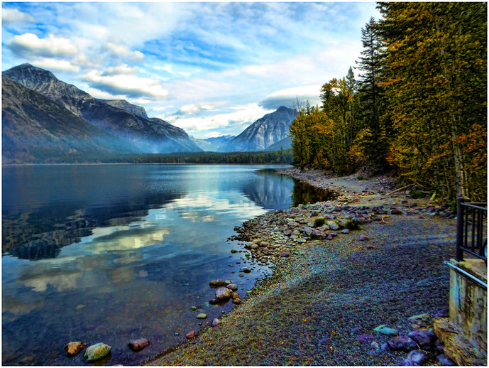 Lake McDonald By Dave Ducommun, BOS, Class B