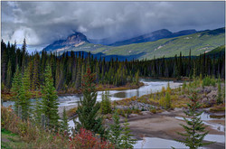 Storm over Bow River