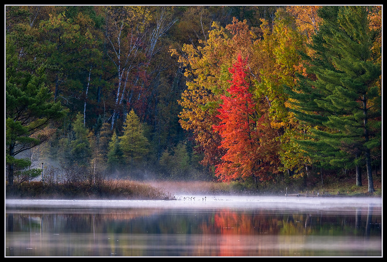 Morning Mist Over Bearskin Lake By Christine Foley Award Large Color Class A