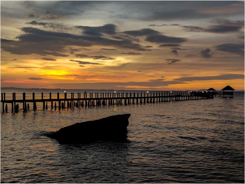 Sunset in Cambodia