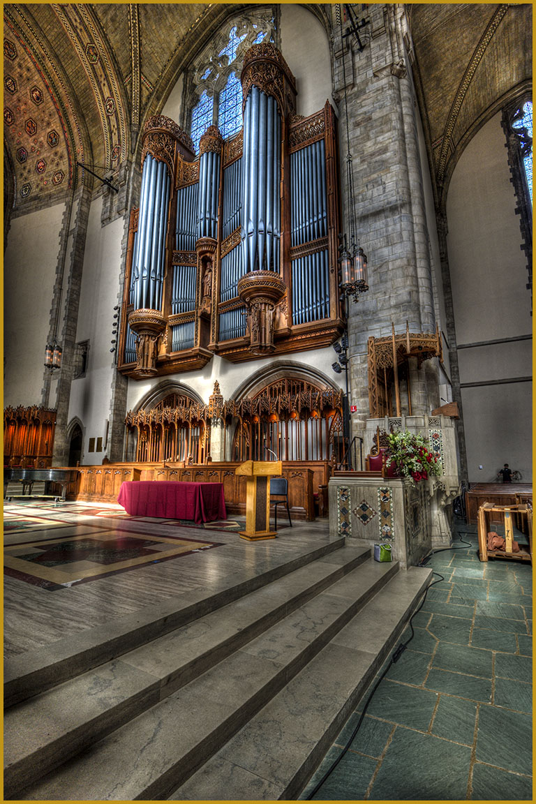 Organ Pipes at Rockefeller Chapel